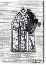 Crow Church Acrylic Print by Judy Wood