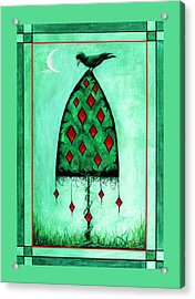 Acrylic Print featuring the mixed media Crow Dreams 2 by Terry Webb Harshman