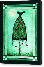 Acrylic Print featuring the mixed media Crow Dreams by Terry Webb Harshman
