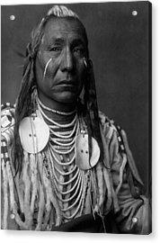 Crow Indian Man Circa 1908 Acrylic Print
