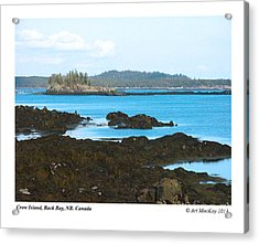Crow Island Bay Of Fundy Nb Acrylic Print