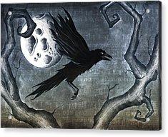 Crow Acrylic Print by Jody Scheers
