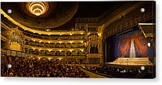 Crowd At Mariinsky Theatre, St Acrylic Print by Panoramic Images