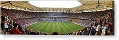 Crowd In A Stadium To Watch A Soccer Acrylic Print by Panoramic Images