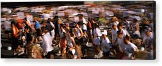 Crowd Participating In A Marathon Race Acrylic Print by Panoramic Images