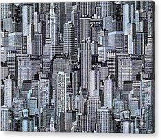 Crowded City Acrylic Print by Bedros Awak
