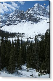 Crowfoot Mountain - Canada Acrylic Print by Phil Banks