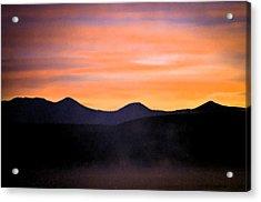 Crowley Lake Sunrise Acrylic Print by Sherri Meyer