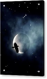 Crowmoon And Orion Acrylic Print