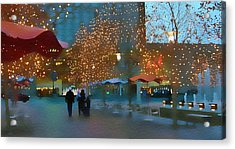Crown Center Christmas Acrylic Print by Ellen Tully