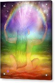 Crown Chakra Goddess Acrylic Print by Carol Cavalaris