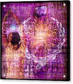 Crown Chakra. Acrylic Print by Mark Preston