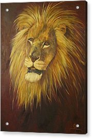 Crown Of Courage,lion Acrylic Print
