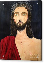 Acrylic Print featuring the painting Crown Of Thorns by Brindha Naveen