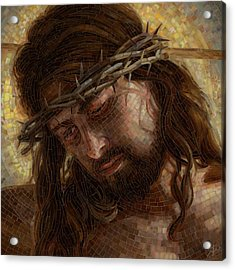 Crown Of Thorns Glass Mosaic Acrylic Print by Mia Tavonatti