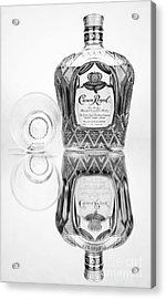 Crown Royal Black And White Acrylic Print