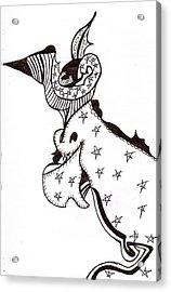Crowned Dragon Acrylic Print