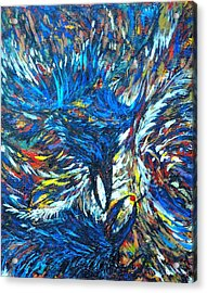 Acrylic Print featuring the painting Crows by Charles Munn