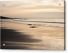 Croyde At Dusk Acrylic Print by Anne Gilbert