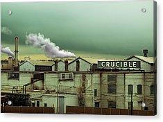 Crucible Acrylic Print by Steven Michael