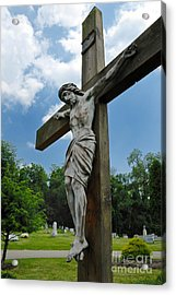 Crucifix Statue St James Cemetery Sewickley Heights Pennsylvania Acrylic Print