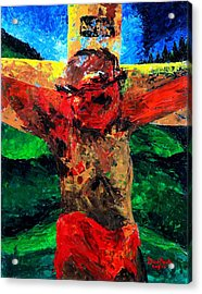 Crucifixion   It Is Finished Acrylic Print by Patricia Brintle