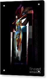 Acrylic Print featuring the photograph Crucifixion by Jodie Marie Anne Richardson Traugott          aka jm-ART
