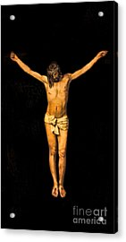 Crucifixion Of Jesus Christ Acrylic Print by Lee Dos Santos
