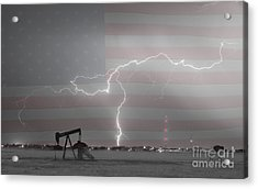 Crude Oil And Natural Gas Striking Across America Bwsc Acrylic Print by James BO  Insogna