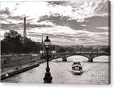 Cruise On The Seine Acrylic Print by Olivier Le Queinec