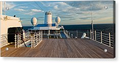 Cruise Ship Deck, Bruges, West Acrylic Print