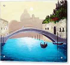 Cruisin Venice Acrylic Print by Larry Cirigliano