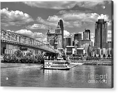 Cruising By Cincinnati 3 Bw Acrylic Print