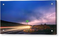 Cruising Highway 36 Into The Storm Acrylic Print by James BO  Insogna