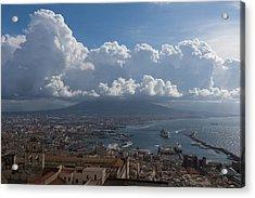 Cruising Into The Port Of Naples Italy Acrylic Print by Georgia Mizuleva