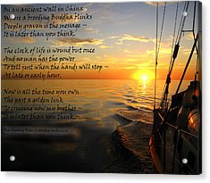 Cruising Poem Acrylic Print by Anne Mott