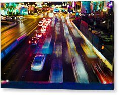 Acrylic Print featuring the photograph Cruising The Strip by Alex Lapidus