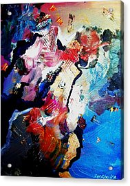 Acrylic Print featuring the painting Cruising Thru. The Islands by Ray Khalife