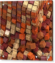 Crumble Tower Of Wood Acrylic Print