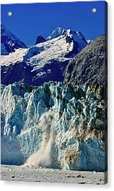 Acrylic Print featuring the photograph Crumbling Glacier by Henry Kowalski