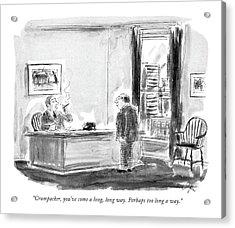 Crumpacker, You've Come A Long, Long Way. Perhaps Acrylic Print by Everett Opie