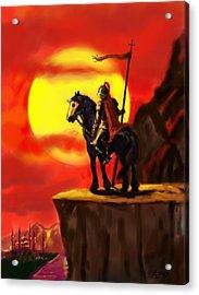 Crusader Acrylic Print