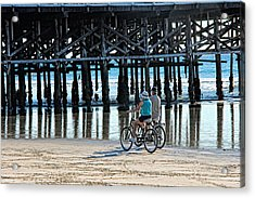 Crusin The Beach Acrylic Print by Tammy Espino