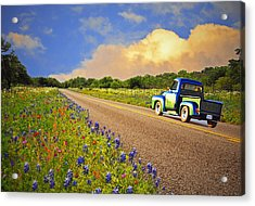 Crusin' The Hill Country In Spring Acrylic Print