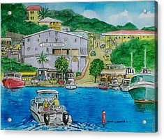 Cruz Bay St. Johns Virgin Islands Acrylic Print by Frank Hunter