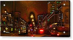 Acrylic Print featuring the photograph Cruzin View Of The Plaza by Thomas Bomstad