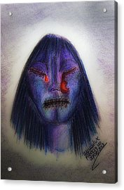 Cry Me A Moon Acrylic Print by Mimulux patricia no No
