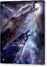 Cry Of The Raven Acrylic Print by Carol Cavalaris