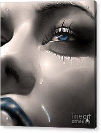 Cryin Da Blues Acrylic Print by Tbone Oliver