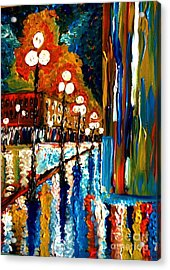 Acrylic Print featuring the painting Crying In The Rain by Brigitte Emme